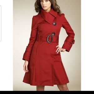 🧥SOIA & KYO RED TRENCHCOAT
